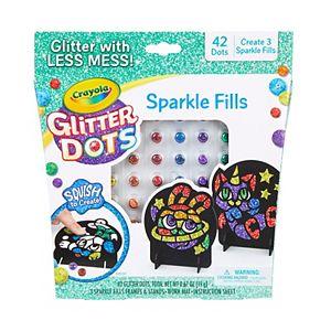 Crayola Glitter Dots Magical Mosaics for Kids, Less Mess Mosaic Kit, Gift