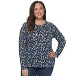 Plus Size Croft & Barrow Long Sleeve Top