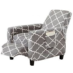 Fancy Collection Sure fit Stretch Recliner Stretch Slipcover Grey new Linen House Corp Monica