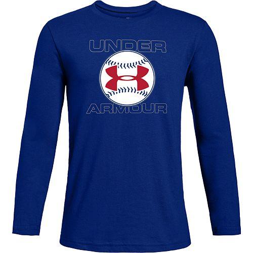 Boys 8-16 Under Armour Baseball Long-Sleeve Tee