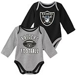 Baby Boy Oakland Raiders Trophy Bodysuit Set