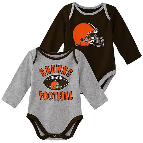 Baby Boy Cleveland Browns Trophy Bodysuit Set
