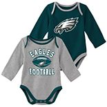 Baby Boy Philadelphia Eagles Trophy Bodysuit Set