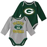 Baby Boy Green Bay Packers Trophy Bodysuit Set