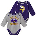 Baby Boy Minnesota Vikings Trophy Bodysuit Set