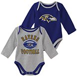 Baby Boy Baltimore Ravens Trophy Bodysuit Set