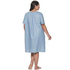 Plus Size Croft & Barrow Woven Zip Robe