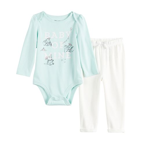 Disney's Dumbo Baby Girl Graphic Bodysuit & Cozy Pants Set by Jumping Beans®