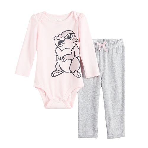 Disney's Bambi Baby Girl Thumper Graphic Bodysuit & Cozy Pants Set by Jumping Beans®