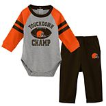 Baby Boy Cleveland Browns Touchdown Bodysuit & Pants Set