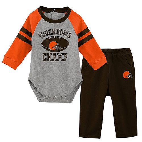 Baby Boy Cleveland Browns Touchdown Bodysuit & Pants Set