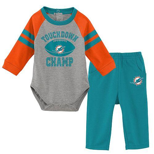 Baby Boy Miami Dolphins Touchdown Bodysuit & Pants Set