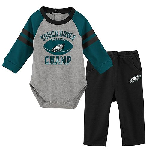 Baby Boy Philadelphia Eagles Touchdown Bodysuit & Pants Set