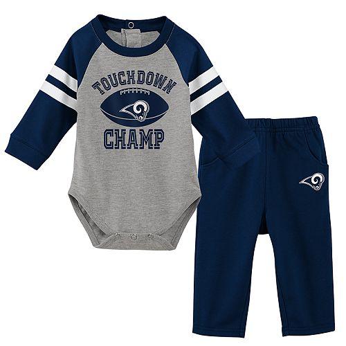 Baby Boy Los Angeles Rams Touchdown Bodysuit & Pants Set