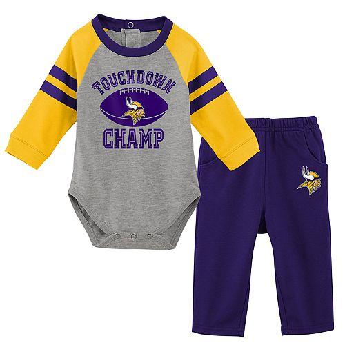 Baby Boy Minnesota Vikings Touchdown Bodysuit & Pants Set