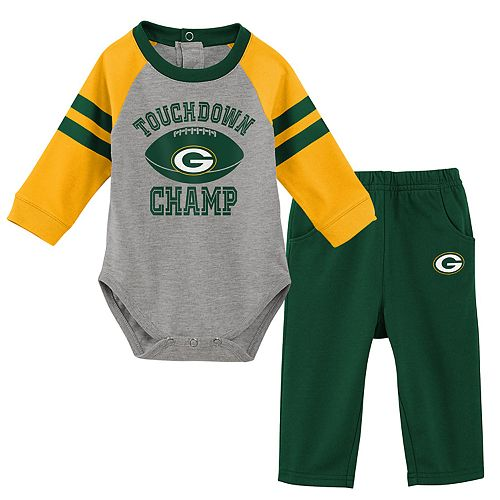 Baby Green Bay Packers Touchdown Bodysuit & Pants Set