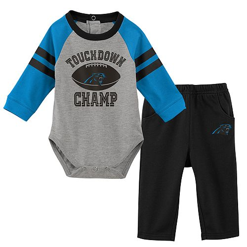 Baby Boy Carolina Panthers Touchdown Bodysuit & Pants Set