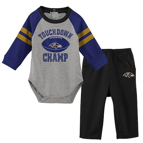Baby Boy Baltimore Ravens Touchdown Bodysuit & Pants Set