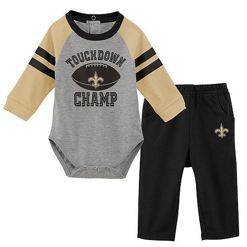 Baby Boy New Orleans Saints Touchdown Bodysuit & Pants Set