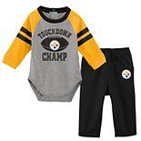 Baby Boy Pittsburgh Steelers Touchdown Bodysuit & Pants Set