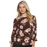 Women's ELLE? 3/4-Sleeve Crepe Top