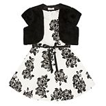 Girls 7-16 Speechless Floral Dress with Faux-Fur Shrug