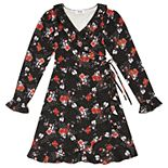 Girls 7-16 Speechless Long Sleeve Floral Wrap Dress