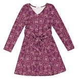 Girls 7-16 Speechless Long Sleeve Front Tie Dress