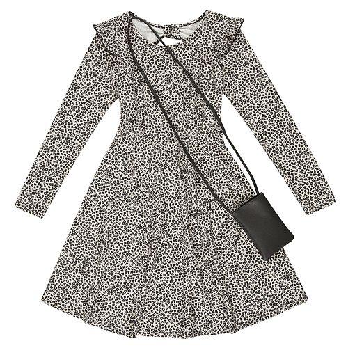 Girls 7-16 Speechless Long Sleeve Dress w/ Purse