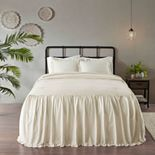 Madison Park Cecelia 3-piece Cotton Ruffle Skirt Bedspread Set