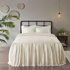 Madison Park Cecelia 3-piece Cotton Ruffle Skirt Bedspread Set