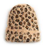 Women's SO® Leopard Print Eyelash Beanie