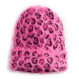 Women's SO® Leopard Print Eyelash Beanie