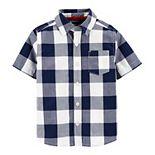 Toddler Boy OshKosh B'gosh® Checkered Plaid Button Front Shirt