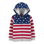 Toddler Boy OshKosh B'gosh® American Flag Stars & Stripes Zip Hoodie