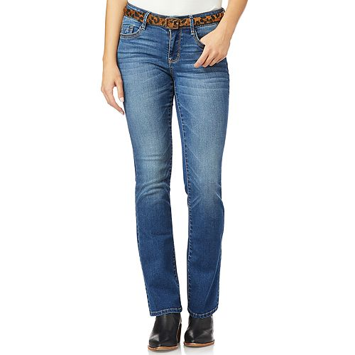 Juniors' WallFlower Legendary Belted Slim Bootcut Jeans