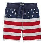 Toddler Boy OshKosh B'gosh® American Flag Stars & Stripes Pull On Shorts