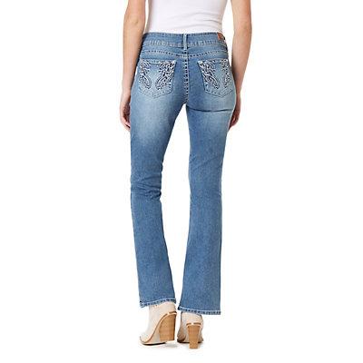 Juniors' WallFlower Luscious Curvy Bling Bootcut Jeans