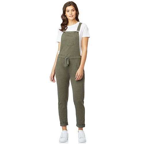 Juniors' WallFlower Knit French Terry Soft Overalls