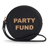 LC Lauren Conrad Graphic Round Coin Pouch