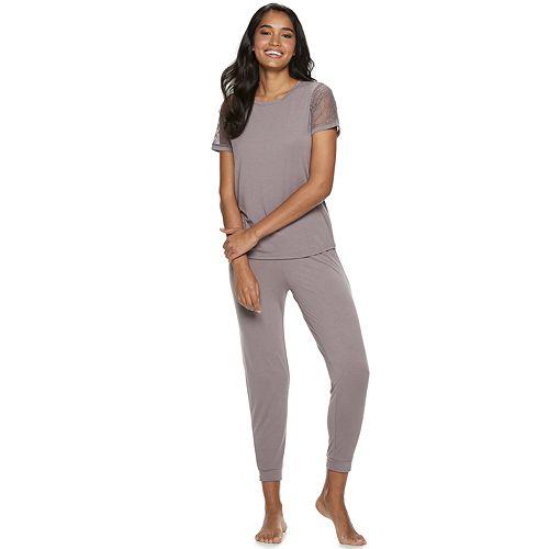 Women's Flora by Flora Nikrooz Frances Knit Top & Pajama Pants Set