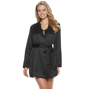 Women's Flora by Flora Nikrooz Stella Satin Wrap Robe