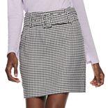 Women's Nine West Belted Shift Skirt