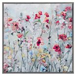 Fine Art Canvas Country Spring Canvas in Gray Frame