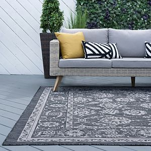 KHL Rugs Mavie Border Indoor Outdoor Rug
