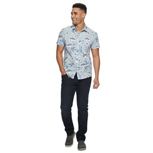 Men's Marc Anthony Patterned Slim-Fit Button-Down Shirt
