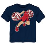 Toddler Girl New England Patriots Pom Pom Cheer Tee