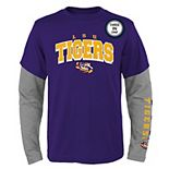 Boys 8-20 LSU Tigers Combo Tee Set