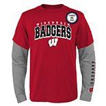 Boys 8-20 Wisconsin Badgers Combo Tee Set