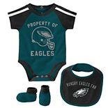 Baby Boy Philadelphia Eagles Tackle 3-Piece Bodysuit Set